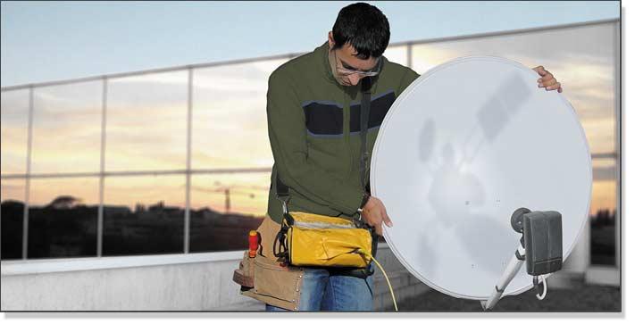 Installing a satellite dish using the TV Explorer | PROMAX