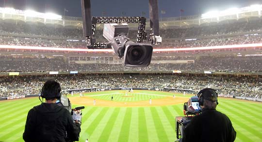 Multiple cameras covering a sports event