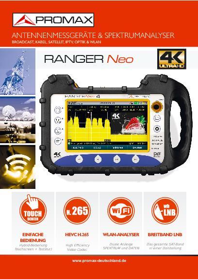 Katalog Antennenmessgeräte und Spektrumanalyser RANGERNeo