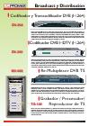 Catálogo de Instrumentos para broadcast y distribución