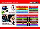 Catálogo de Tabla de colores de los cables de fibra óptica
