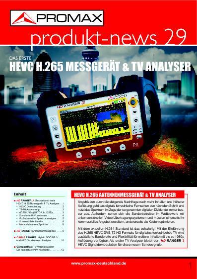 Katalog PROMAX Produkt-News Nr. 29